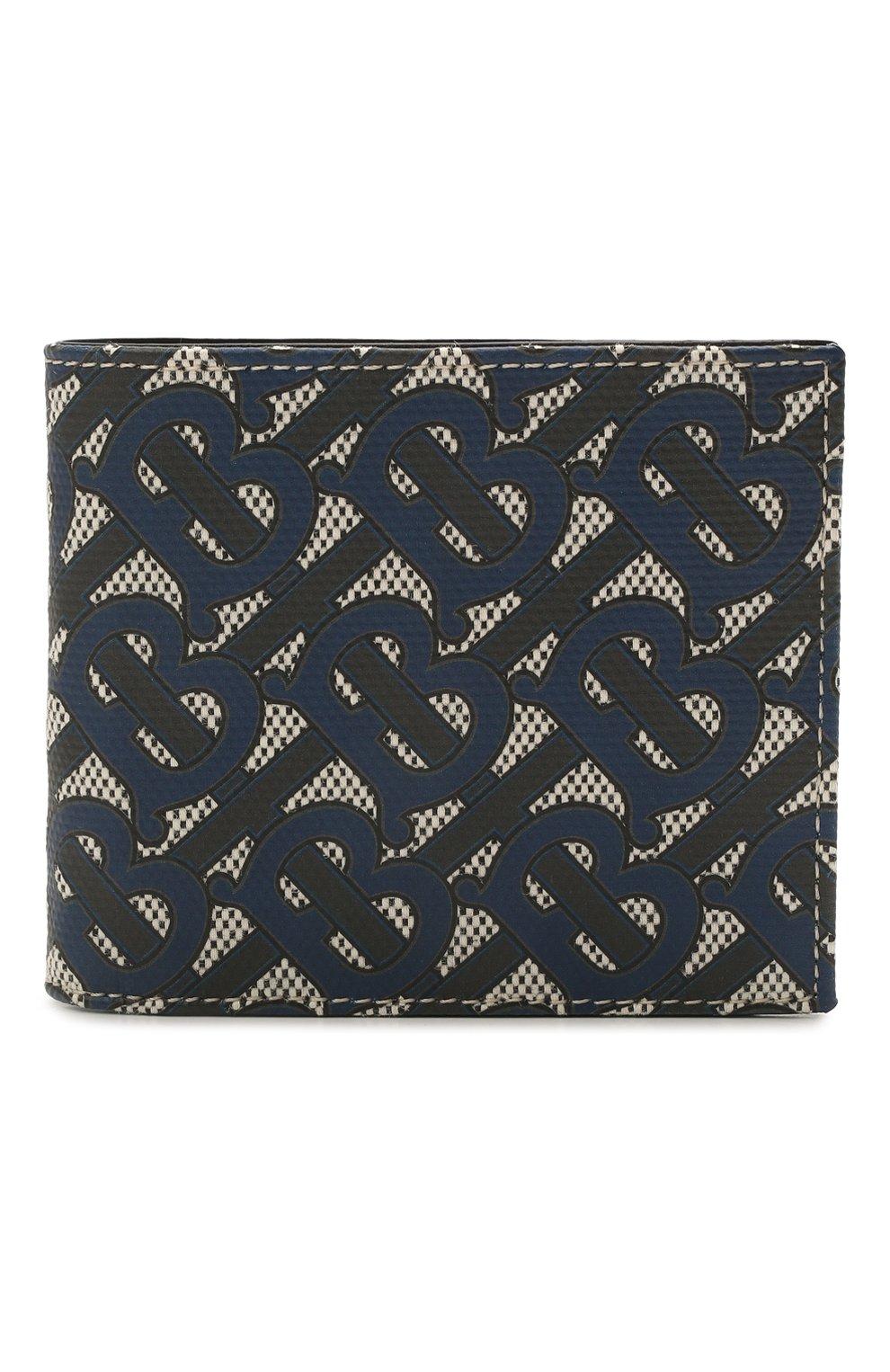 Мужской портмоне BURBERRY темно-синего цвета, арт. 8040282 | Фото 1 (Материал: Текстиль)
