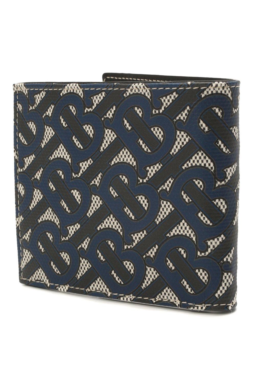 Мужской портмоне BURBERRY темно-синего цвета, арт. 8040282 | Фото 2 (Материал: Текстиль)