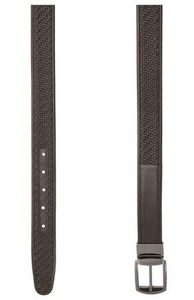 Мужской кожаный ремень ERMENEGILDO ZEGNA темно-коричневого цвета, арт. BPTAW6/401A | Фото 2