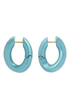 Женские серьги BALENCIAGA голубого цвета, арт. 542508/TZ16M | Фото 1