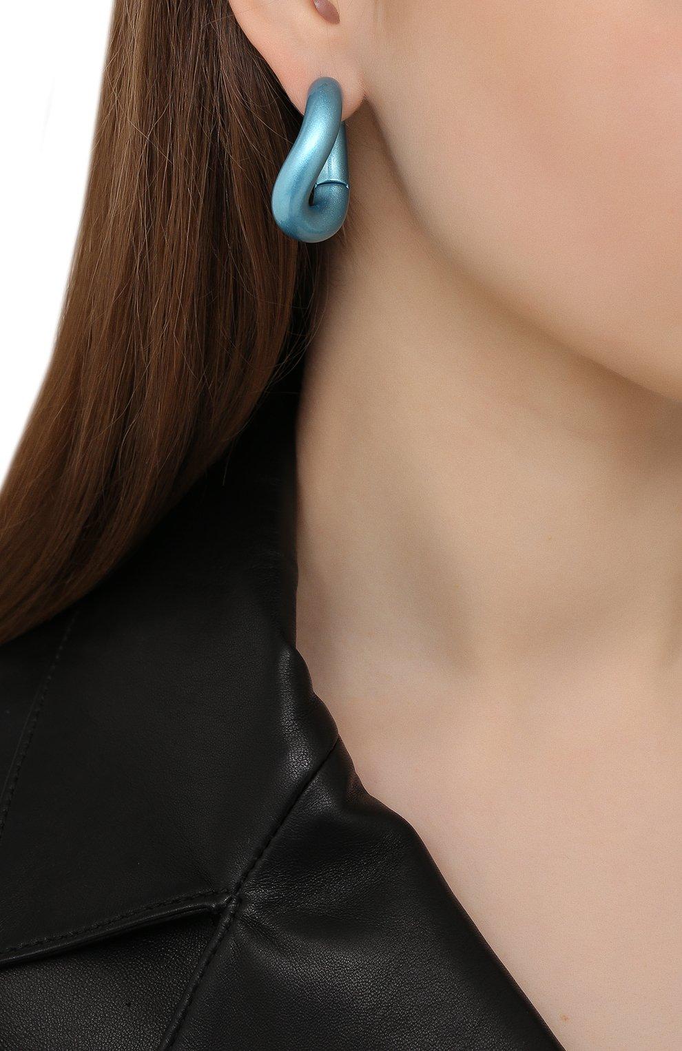 Женские серьги BALENCIAGA голубого цвета, арт. 542508/TZ16M | Фото 2
