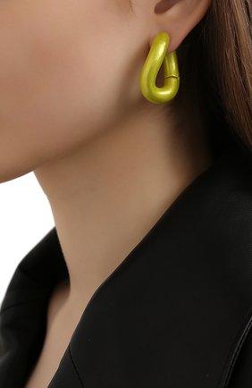 Женские серьги loop BALENCIAGA желтого цвета, арт. 542508/TZ16V | Фото 2