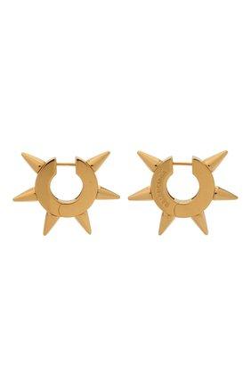 Женские серьги BALENCIAGA золотого цвета, арт. 655722/TZ99G | Фото 1 (Материал: Металл)