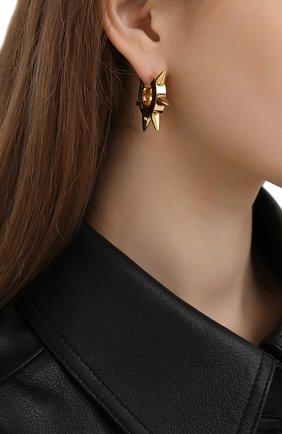 Женские серьги BALENCIAGA золотого цвета, арт. 655722/TZ99G   Фото 2