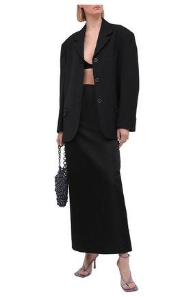 Женская юбка KALMANOVICH черного цвета, арт. SS21K19 | Фото 2