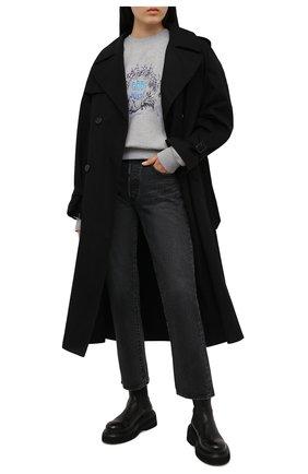 Женский хлопковый свитшот 404 NOT FOUND серого цвета, арт. 700404 | Фото 2