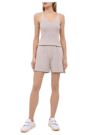 Женские шорты из вискозы FREEAGE бежевого цвета, арт. W22.SR001.7080.103 | Фото 2