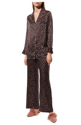 Женская шелковая пижама MARJOLAINE бордового цвета, арт. 4MIT5501 | Фото 2