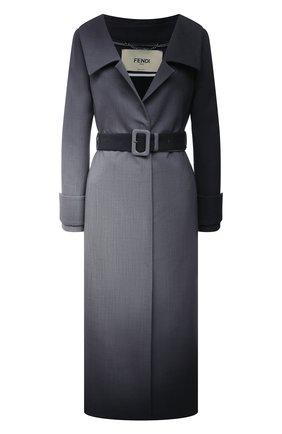 Женское шерстяное пальто FENDI серого цвета, арт. FF8799 AF7D | Фото 1