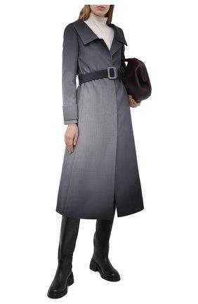 Женское шерстяное пальто FENDI серого цвета, арт. FF8799 AF7D | Фото 2