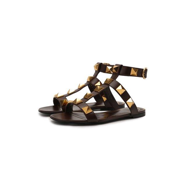Кожаные сандалии Roman Stud Runway Valentino