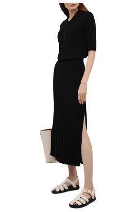 Женские текстильные сандалии MARNI белого цвета, арт. FBMS012101/P3707 | Фото 2
