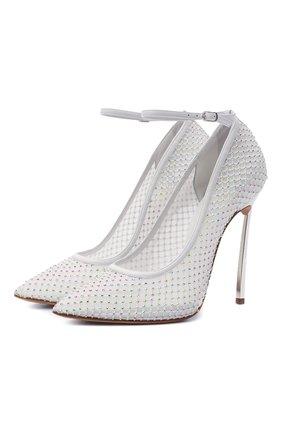 Женские текстильные туфли CASADEI белого цвета, арт. 1H858S120MC1362A303 | Фото 1
