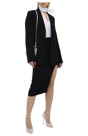 Женские текстильные туфли CASADEI белого цвета, арт. 1H858S120MC1362A303 | Фото 2