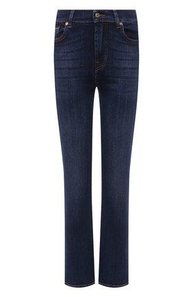 Женские джинсы 7 FOR ALL MANKIND темно-синего цвета, арт. JSWS44A0KK   Фото 1