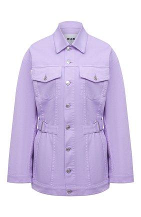 Женская джинсовая куртка MSGM сиреневого цвета, арт. 3041MDH45T 217279 | Фото 1