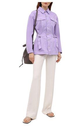 Женская джинсовая куртка MSGM сиреневого цвета, арт. 3041MDH45T 217279 | Фото 2