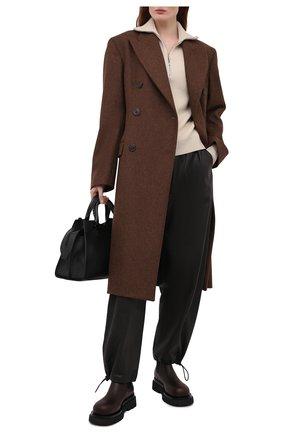 Женские кожаные ботинки bv lug BOTTEGA VENETA темно-коричневого цвета, арт. 592045/VIFH0 | Фото 2