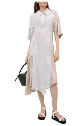 Женские текстильные сандалии flavia MONCLER белого цвета, арт. G1-09B-4L711-00-02SS1 | Фото 2