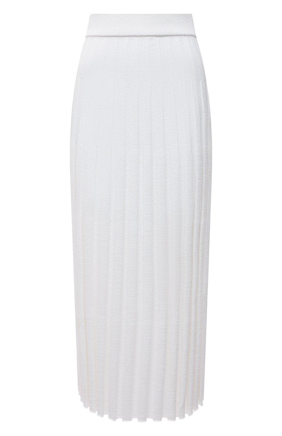 Женская юбка из вискозы JOSEPH белого цвета, арт. JF005331 | Фото 1
