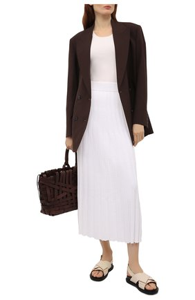 Женская юбка из вискозы JOSEPH белого цвета, арт. JF005331 | Фото 2