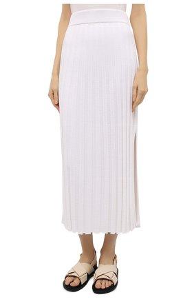 Женская юбка из вискозы JOSEPH белого цвета, арт. JF005331 | Фото 3
