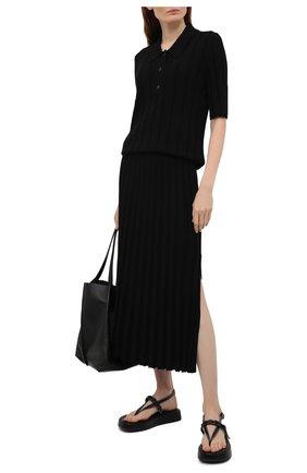 Женская юбка из вискозы JOSEPH черного цвета, арт. JF005331 | Фото 2