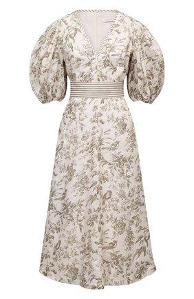 Женское льняное платье ZIMMERMANN кремвого цвета, арт. 1196DRB0T | Фото 1