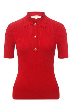 Женское поло MICHAEL MICHAEL KORS красного цвета, арт. MS1600CBVC | Фото 1