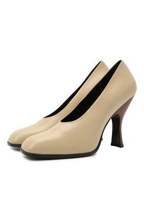 Женские кожаные туфли jade THE ROW бежевого цвета, арт. F1194-L35   Фото 1