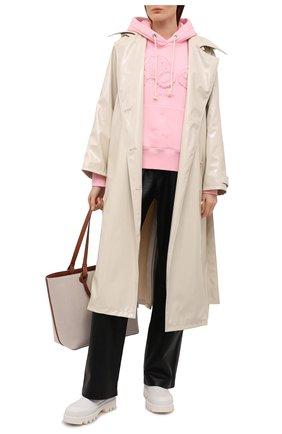 Женский хлопковое худи PALM ANGELS розового цвета, арт. PWBB023S21FLE0013434 | Фото 2