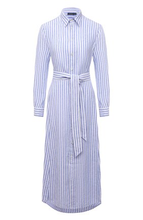 Женское льняное платье POLO RALPH LAUREN синего цвета, арт. 211838158 | Фото 1