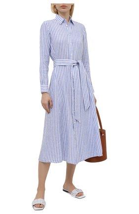 Женское льняное платье POLO RALPH LAUREN синего цвета, арт. 211838158 | Фото 2