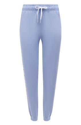 Женские хлопковые джоггеры POLO RALPH LAUREN синего цвета, арт. 211838114 | Фото 1