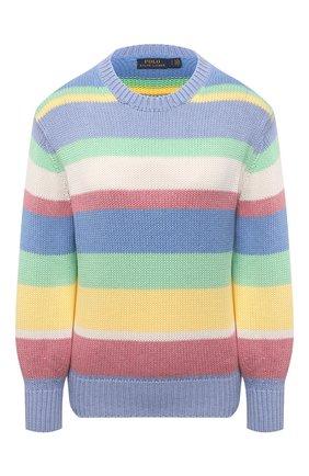 Женский хлопковый свитер POLO RALPH LAUREN разноцветного цвета, арт. 211838008 | Фото 1 (Длина (для топов): Стандартные; Материал внешний: Хлопок; Рукава: Длинные; Стили: Кэжуэл; Женское Кросс-КТ: Свитер-одежда)