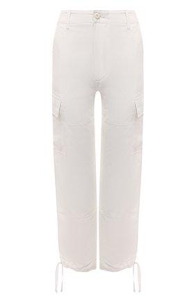 Женские брюки из шелка и льна POLO RALPH LAUREN кремвого цвета, арт. 211833039 | Фото 1