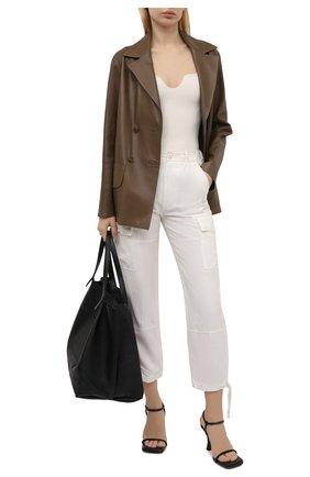 Женские брюки из шелка и льна POLO RALPH LAUREN кремвого цвета, арт. 211833039 | Фото 2