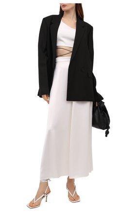 Женские кожаные босоножки lalita 75 STUART WEITZMAN белого цвета, арт. S0892 | Фото 2