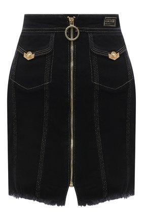 Женская джинсовая юбка VERSACE JEANS COUTURE черного цвета, арт. A9HWA33I-WDP853/ALL4P | Фото 1