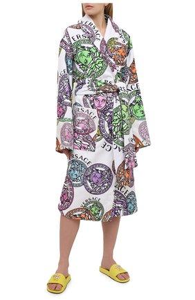 Женский хлопковый халат VERSACE разноцветного цвета, арт. ZACP00008/ZC0SP129 | Фото 2