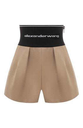 Женские хлопковые шорты ALEXANDER WANG бежевого цвета, арт. 1WC2214358 | Фото 1