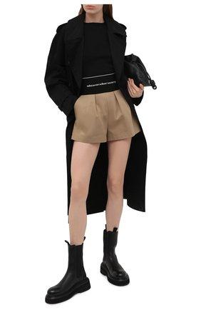Женские хлопковые шорты ALEXANDER WANG бежевого цвета, арт. 1WC2214358 | Фото 2