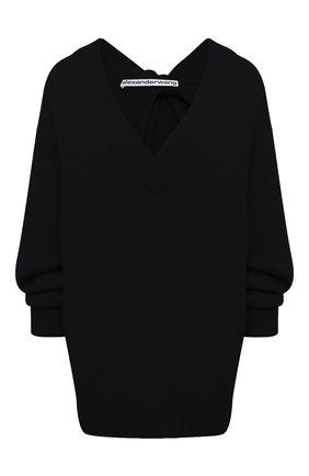 Женский свитер из шерсти и вискозы ALEXANDER WANG черного цвета, арт. 1KC2213041 | Фото 1