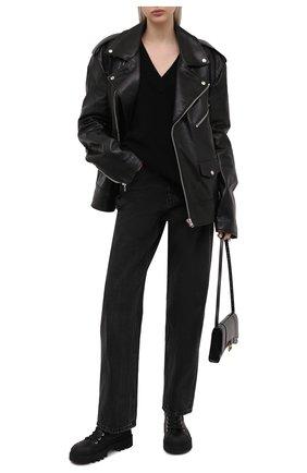Женский свитер из шерсти и вискозы ALEXANDER WANG черного цвета, арт. 1KC2213041 | Фото 2