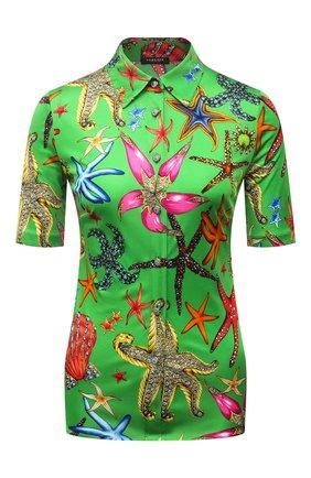 Женская рубашка из вискозы VERSACE зеленого цвета, арт. A89204/1F01134 | Фото 1