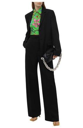 Женская рубашка из вискозы VERSACE зеленого цвета, арт. A89204/1F01134 | Фото 2