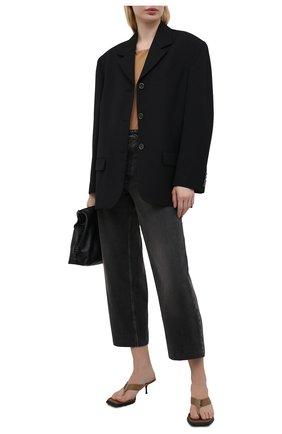 Женские текстильные мюли ALEXANDER WANG коричневого цвета, арт. 30221S002 | Фото 2
