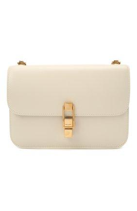 Женская сумка carre SAINT LAURENT белого цвета, арт. 633214/1YF0W | Фото 1 (Размер: small; Материал: Натуральная кожа; Сумки-технические: Сумки через плечо)