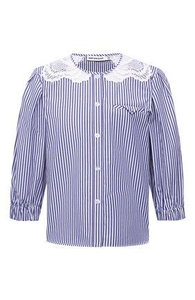 Женская хлопковая блузка SELF-PORTRAIT голубого цвета, арт. SS21-045TS | Фото 1