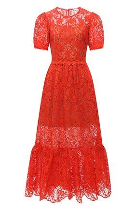Женское платье SELF-PORTRAIT красного цвета, арт. SS21-098M | Фото 1